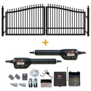 Mighty Mule 14 Ft X 6 Ft St Augustine Dual Driveway Gate With Free Dual Swing Automatic Gate Opener G2514 Kit Fm Verjas Puertas De Hierro Puertas De Entrada