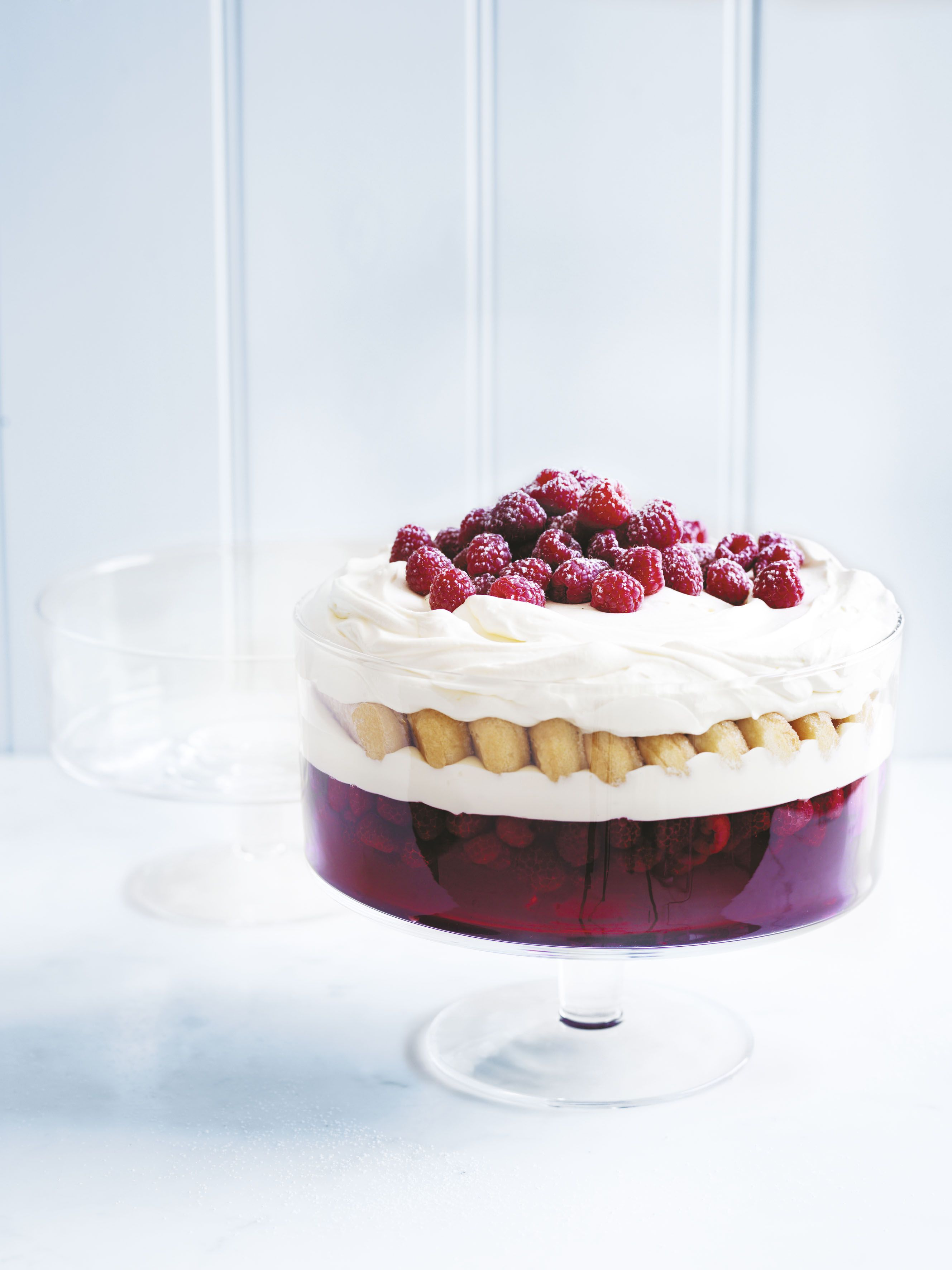 Festive trifle served in donna hay for Royal Doulton glassware