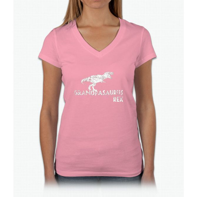 Men's Grandpasaurus Rex Shirt, Funny Grandpa Dinosaur Gift Womens V-Neck T-Shirt