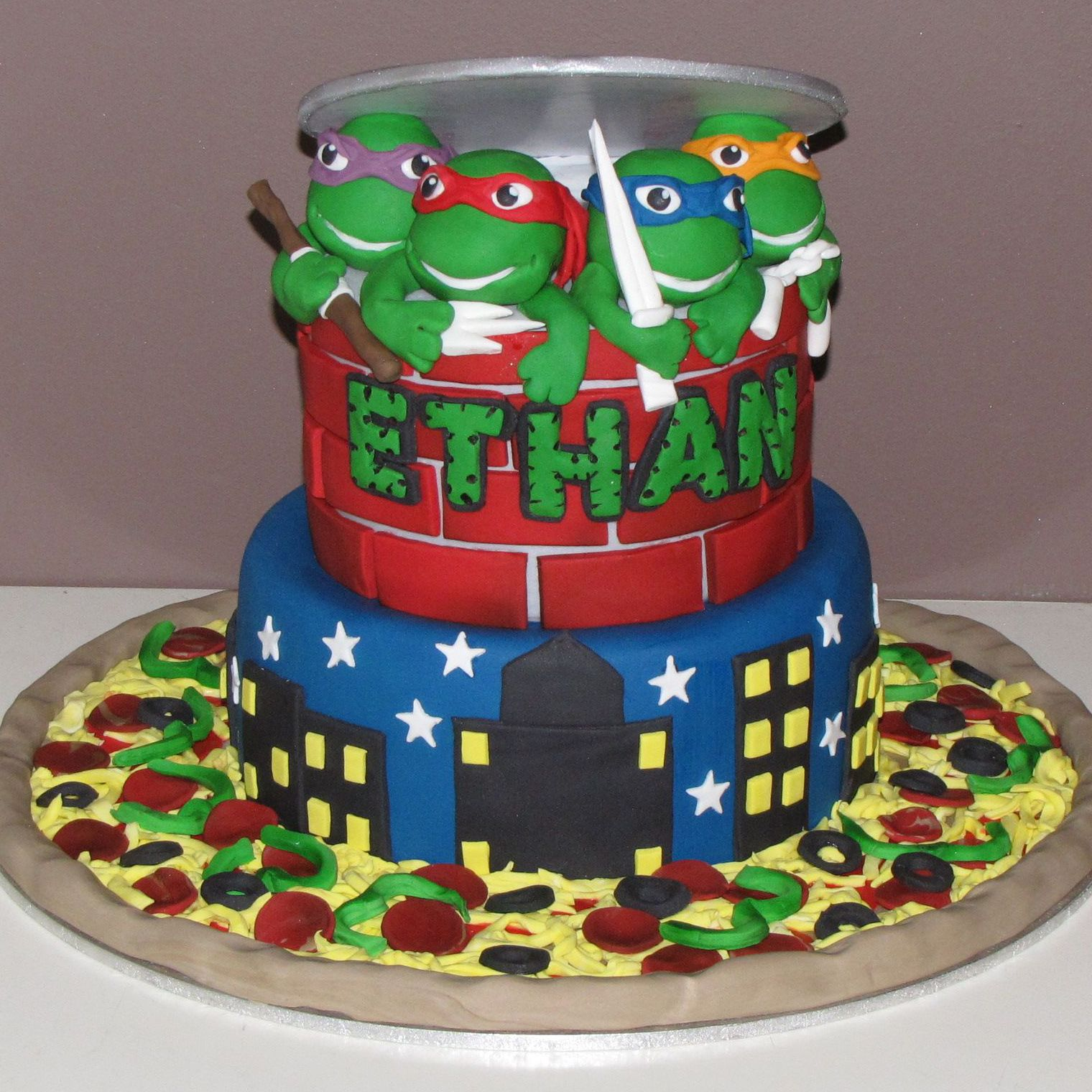 Pin By Linda K On Birthday Cakes Tmnt Cake Cake Ninja