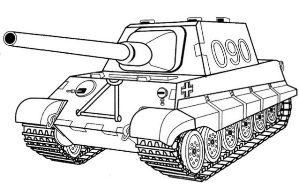 Battle Tank Coloring Pages Printable Coloring pages for