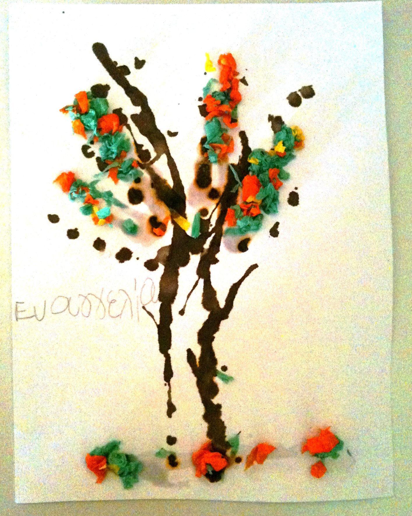 Autumn Fall Tree Craft Pre K And Kindergarten