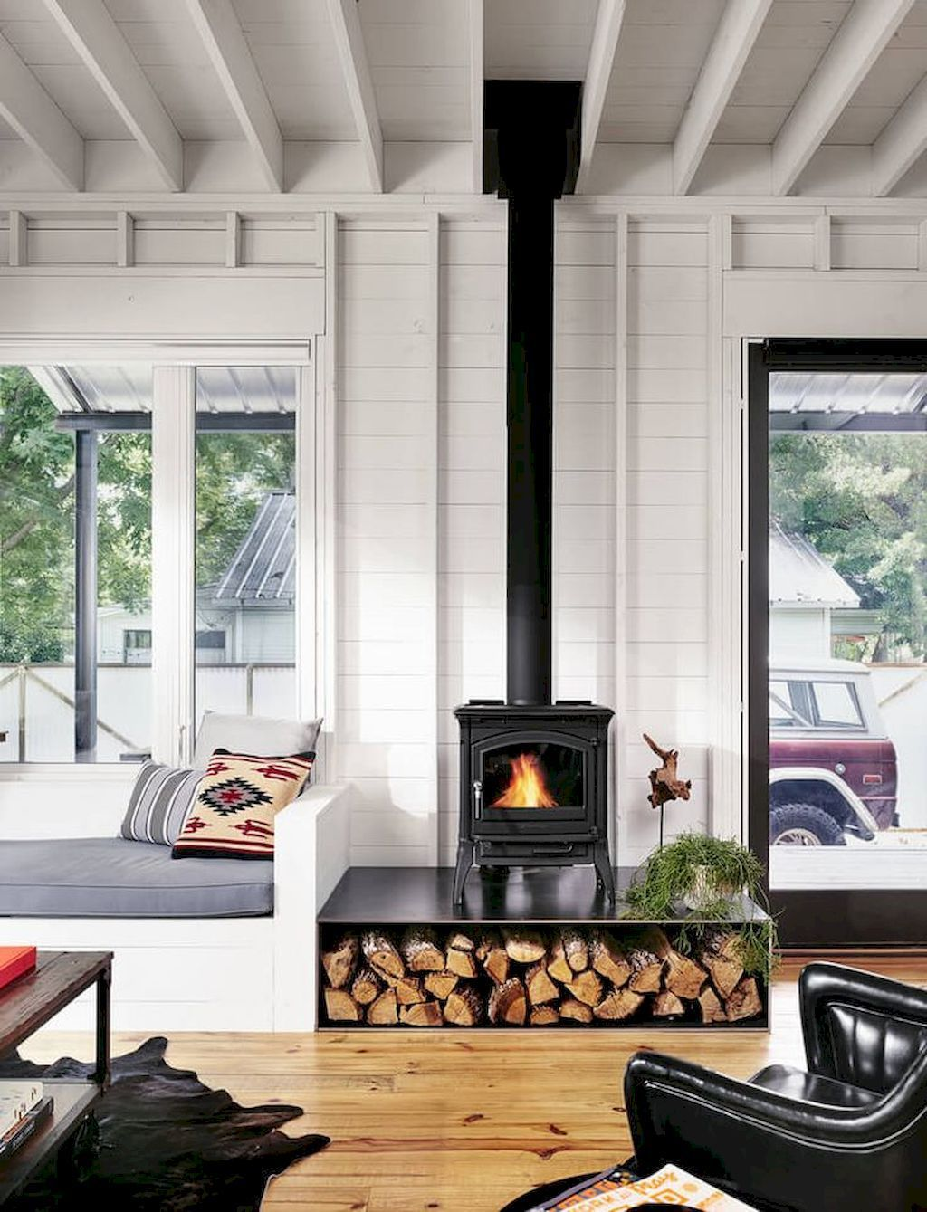60+ scandinavian fireplace ideas for your living room (64 ...