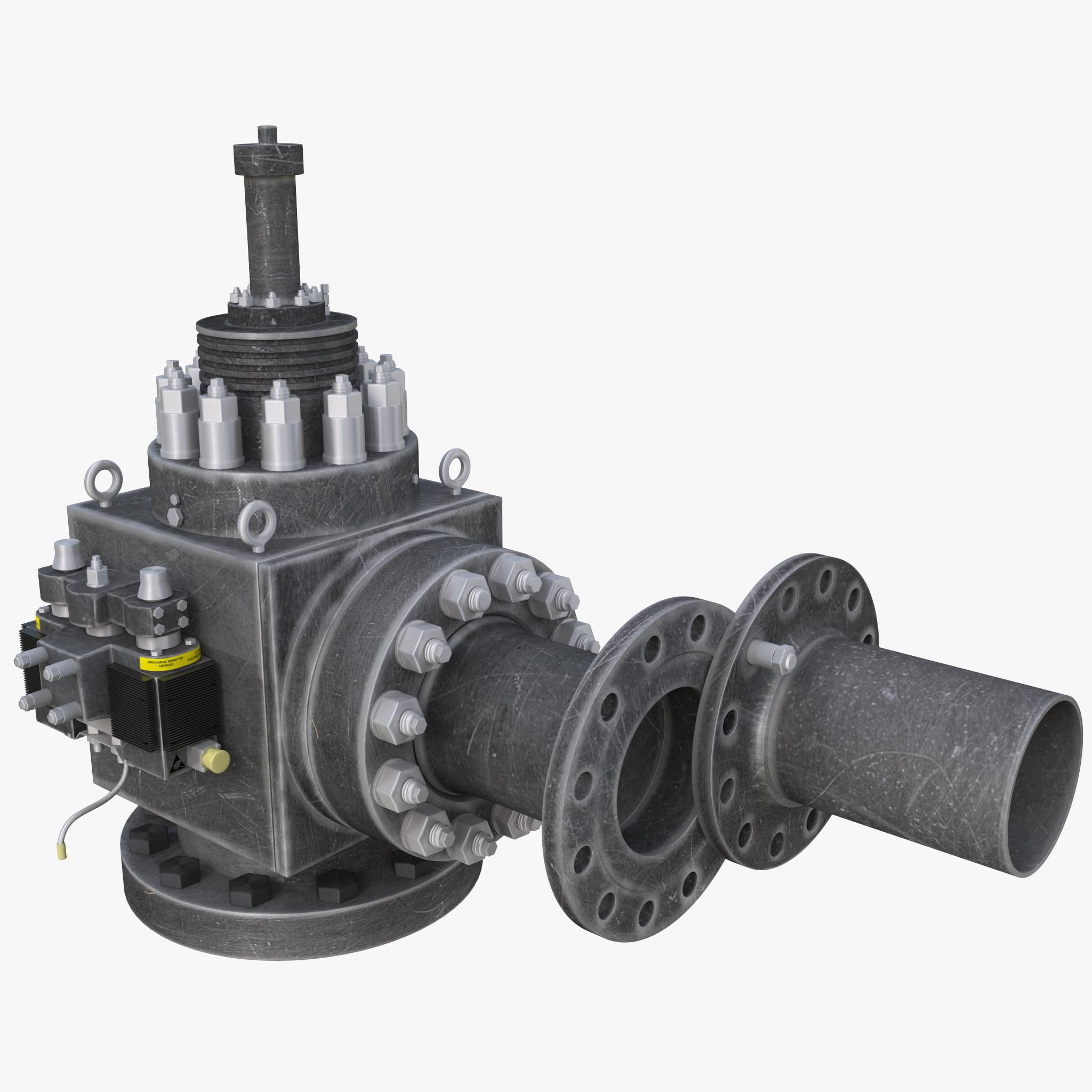 Integrated Single Safety Relief Valve 3D Model AD ,