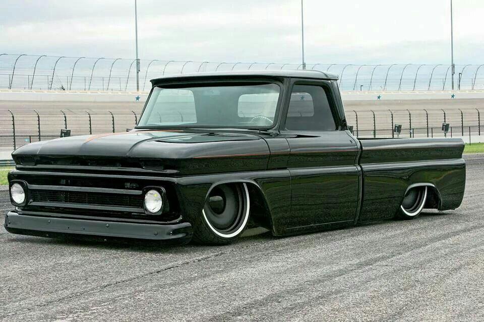 62 65 Chevrolet C10 Custom Slammed Blacked Out Chevy C10