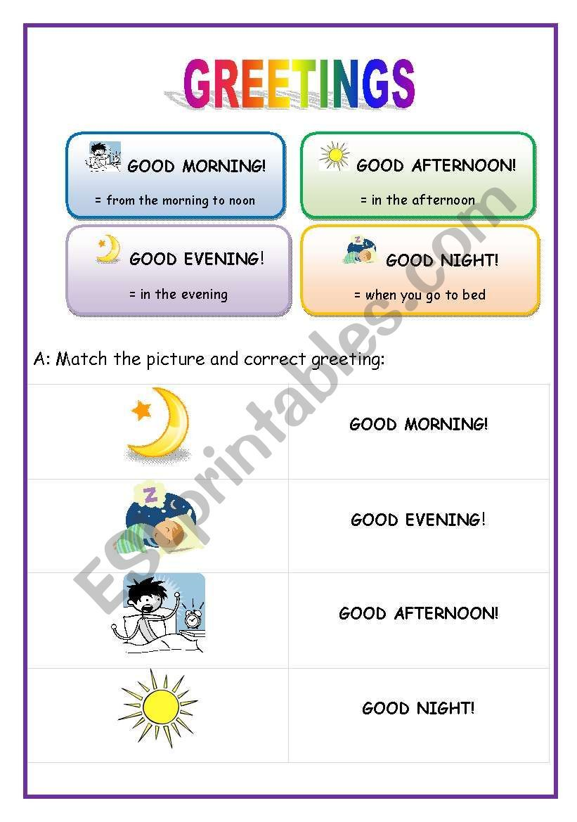Greetings English For Beginners English For Beginners Teaching English Wh Questions Exercises [ 1169 x 821 Pixel ]