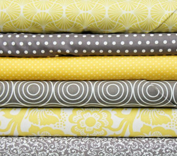 gray/yellow fabric- what i want my first quilt to look like ...