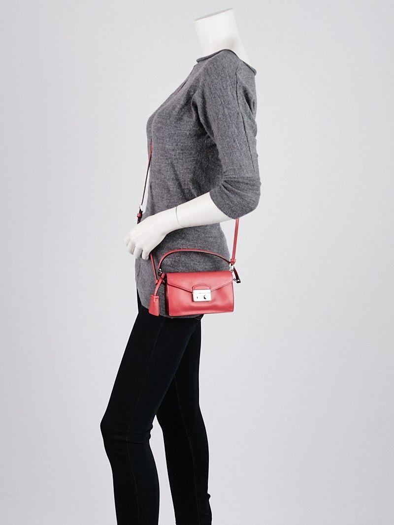 7d978b02a46597 Prada Peonia Saffiano Lux Leather Mini Flap Bag BN2662 | Everyday ...