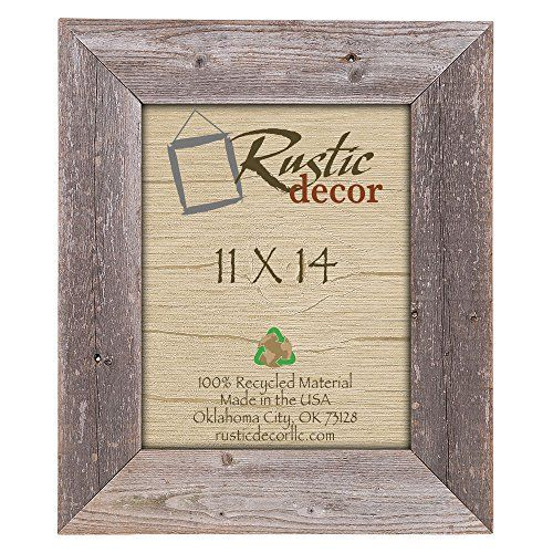 11x14 35 Extra Wide Reclaimed Rustic Barnwood Wall Frame ...