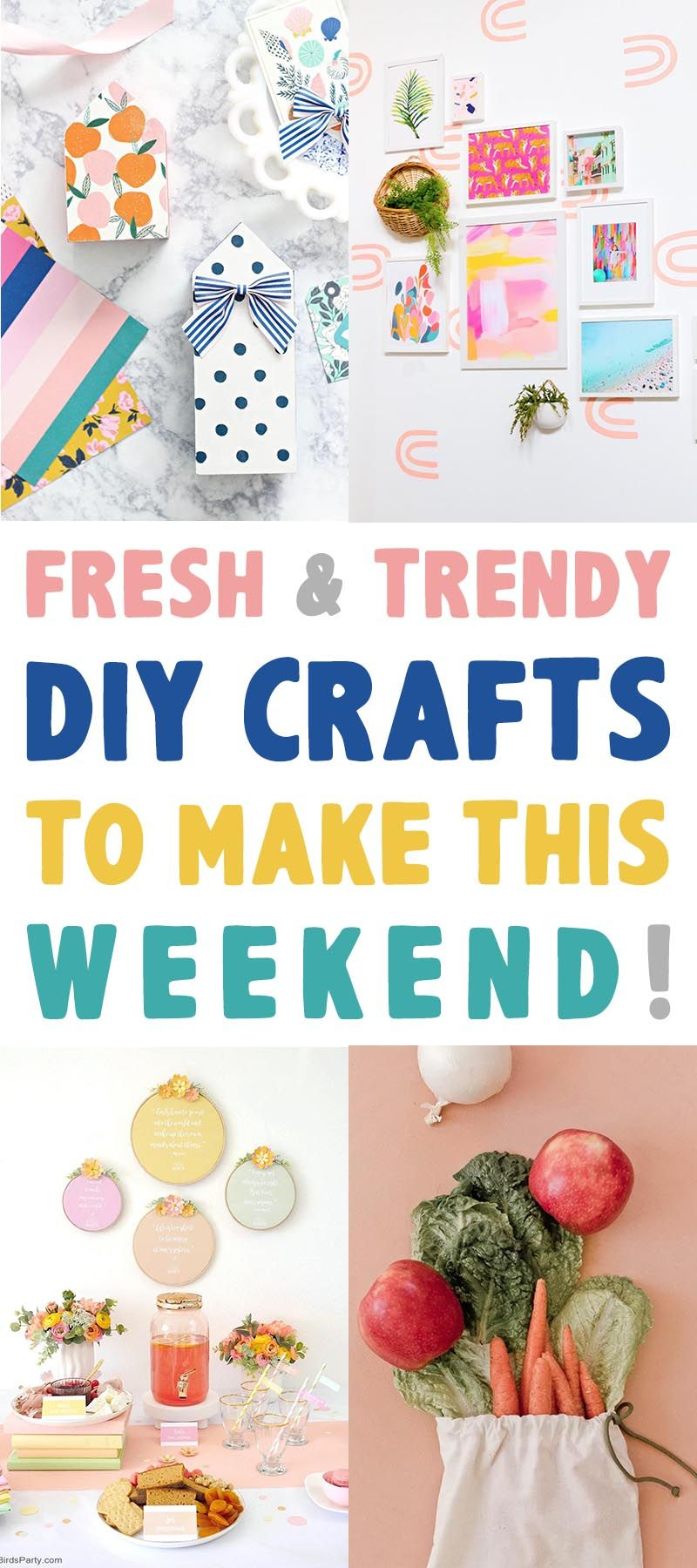 Fresh and Trendy DIY Crafts To Make This Weekend that are tons of fun!  Check out the newest... hottest... fabulous crafts out there this week!  #Crafts #DIYCrafts #FreshCrafts #NewCrafts #TrendyDIYCrafts