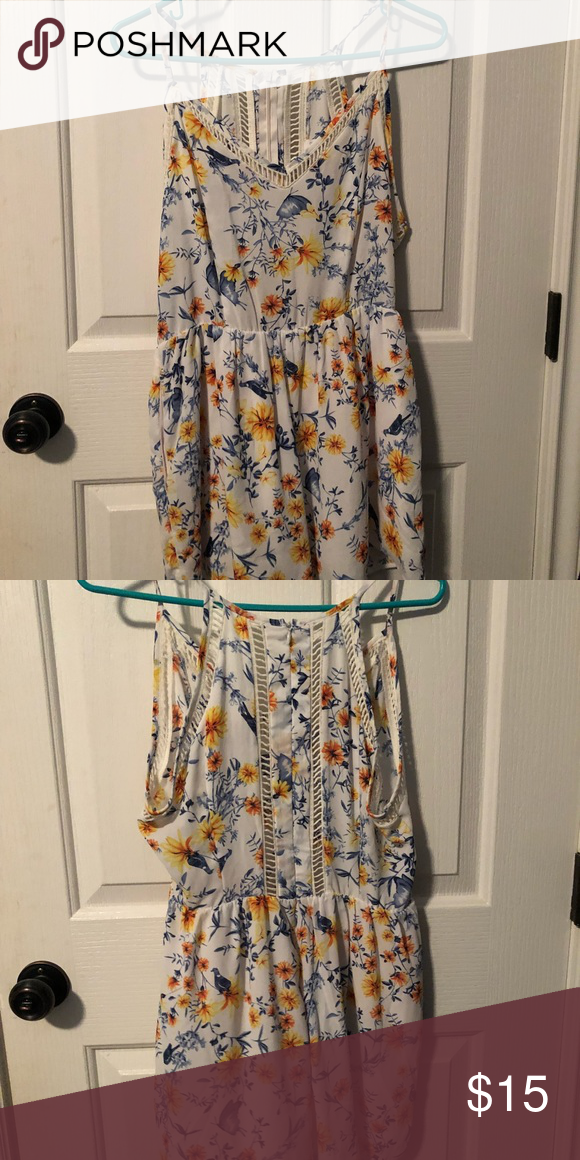 2a974456f138 romper Summer Spaghetti strapped romper! V neck in the front. Never worn! Sienna  Sky Dresses Mini