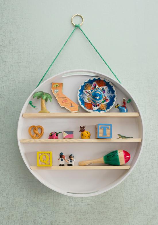 a baby's memorabilia shelf... (Oh Joy!) #babymemorabilia