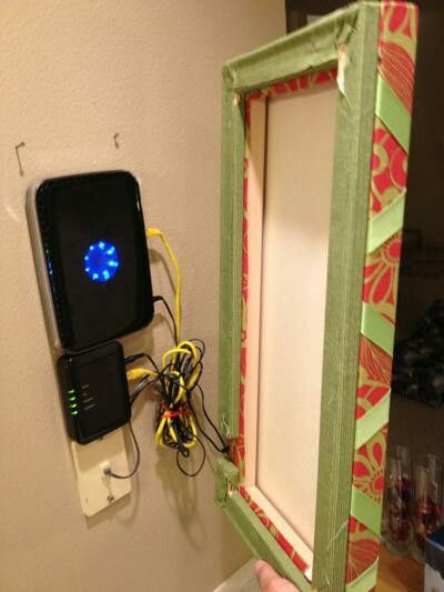 Modem and router storage For the Home Pinterest Wohnzimmer - arbeitsplatz drucker wohnzimmer verstecken
