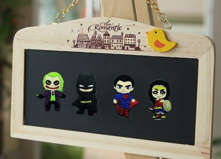 100pcs Super Hero Batman Fridge Magnet Magnetic Stick Office Supplies Gift