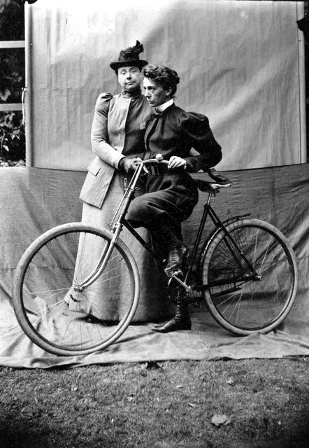 Learning To Bike Ca 1893 By Alice Austen Lesbian Art