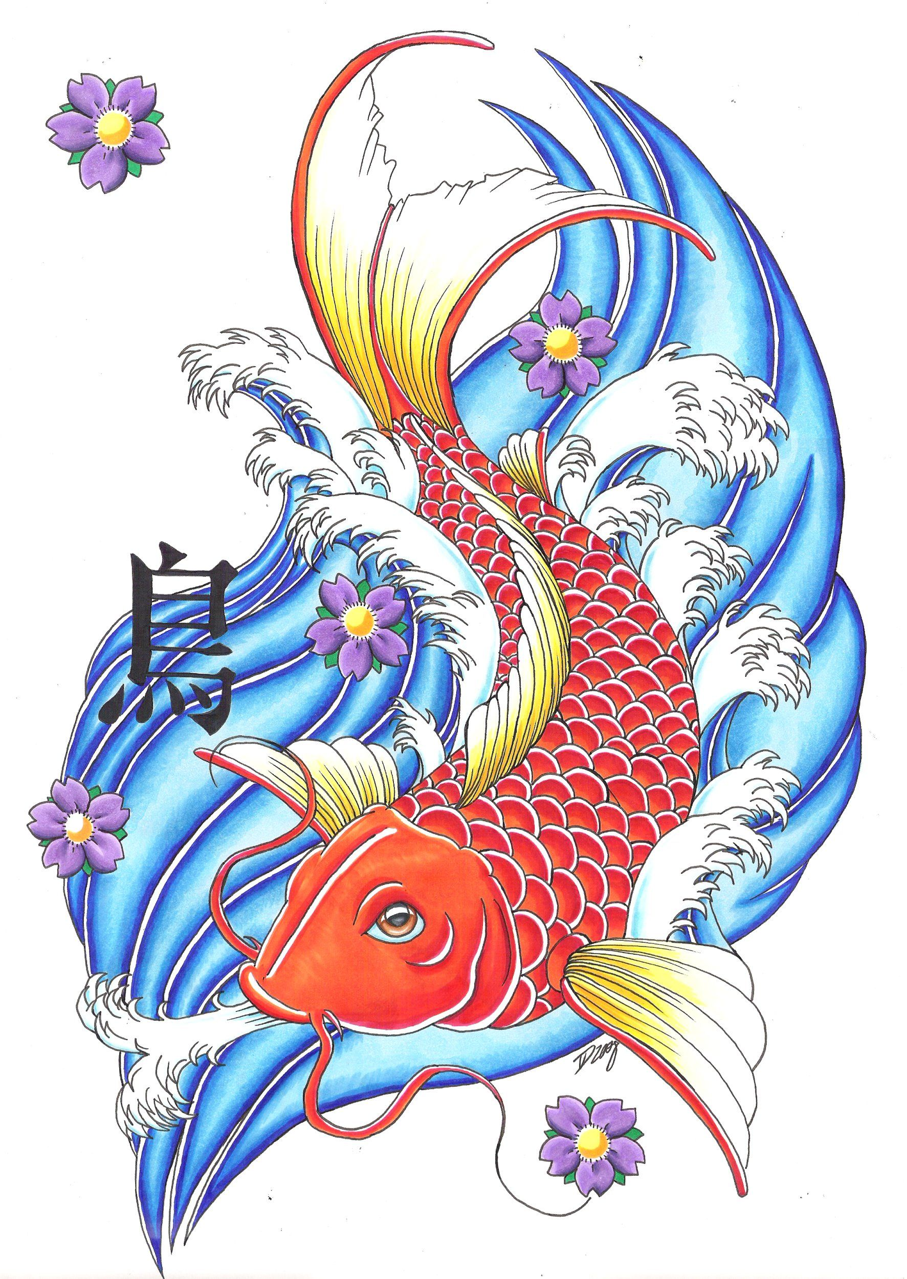 Tattoos Designs Japanese Koi Fish Tattoos Meaning Koi Fish