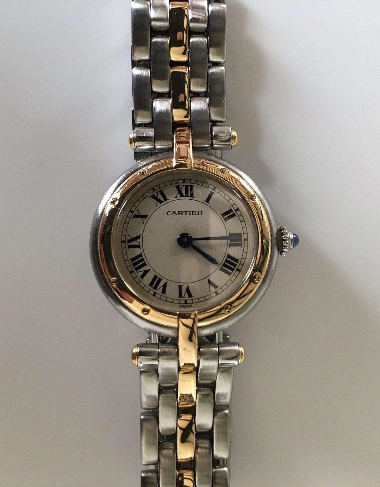 Cartier Panthere Vendome Round Damenuhr Stahl Gold 18k