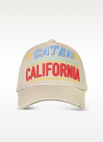 DSQUARED2 CATEN CALIFORNIA EMBROIDERED BASEBALL CAP. #dsquared2 #caten california embroidered baseball cap