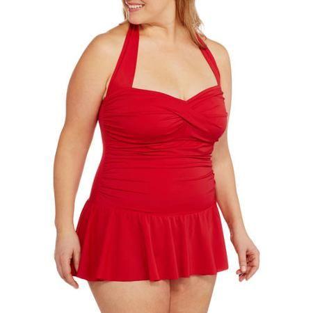 Suddenly Slim By Catalina Women's Plus-Size Retro Flirty