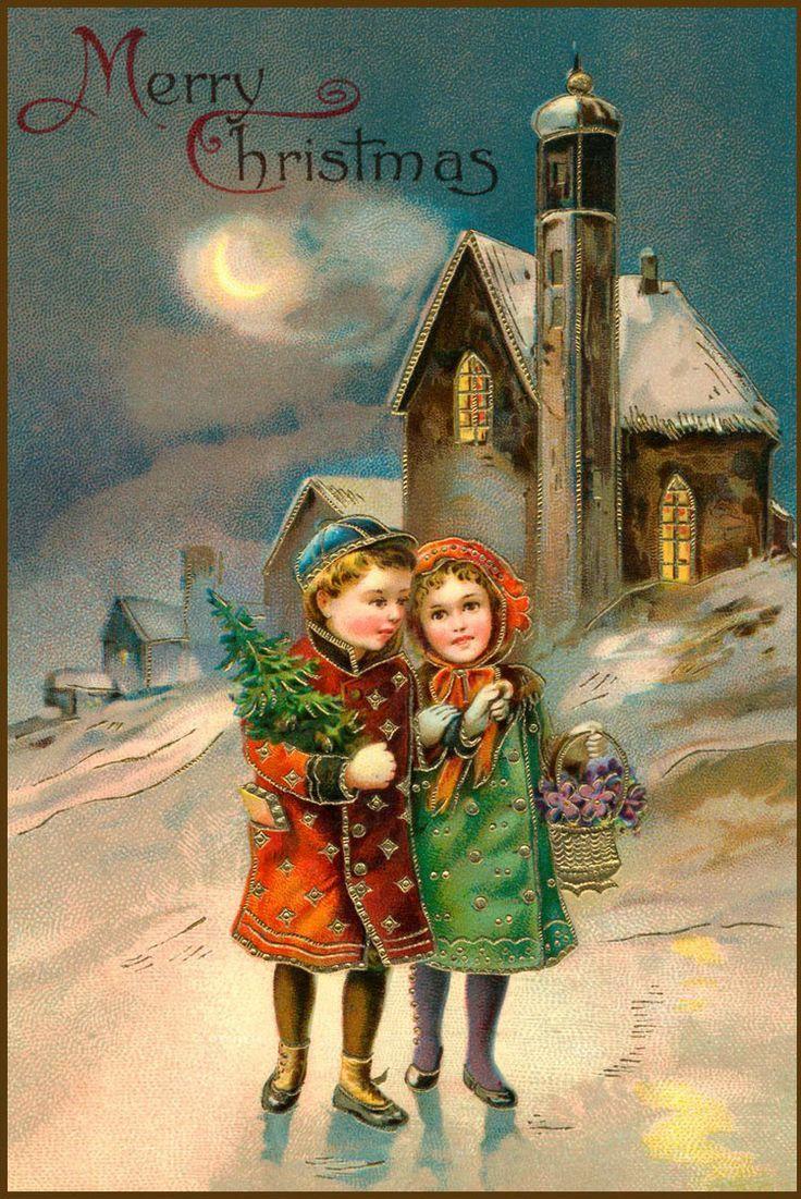 Scarica instant download cartolina di natale vintage, depoca del 1900, instant, immagini di natale, natale ephemera, immagine stampabile, cardmaking,. Cartoline Natale Vintage Natale Antico Bambini Di Natale Imprimibili Di Natale
