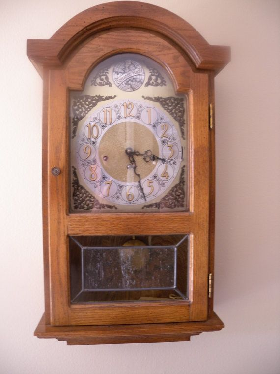 Vintage German Wall Clock Westminster Chimes With Large Hermle Clock Movement Works Wall Clock German Wall Clock