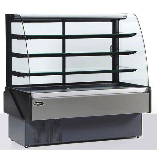 Hydra Kool Kbd Cg 60 S 60 Curved Glass Refrigerated Display Case Foodservicewarehouse Com Bakery Display Case Curved Glass Bakery Display