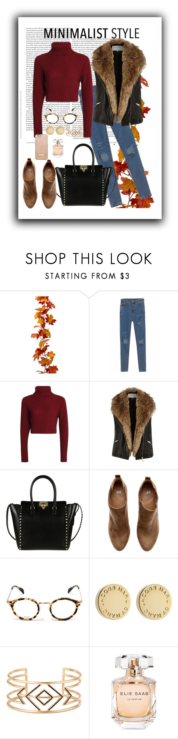 """Untitled #666"" by find-your-own-style ❤ liked on Polyvore featuring River Island, Valentino, H&M, CÉLINE, Marc by Marc Jacobs, Stella & Dot, Elie Saab and MICHAEL Michael Kors"