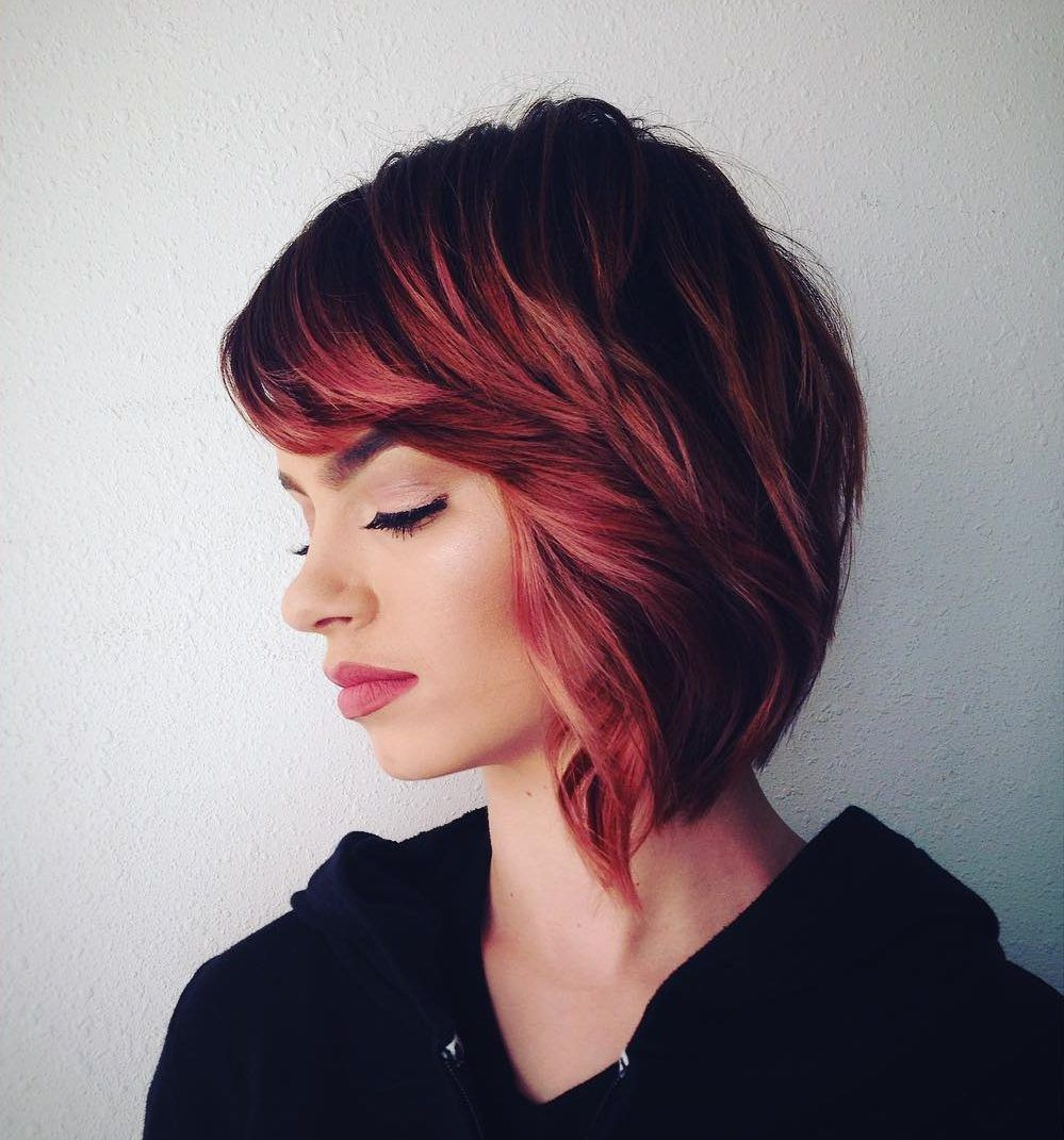 Cool short red hair ideas looking fancy and trendy in a short
