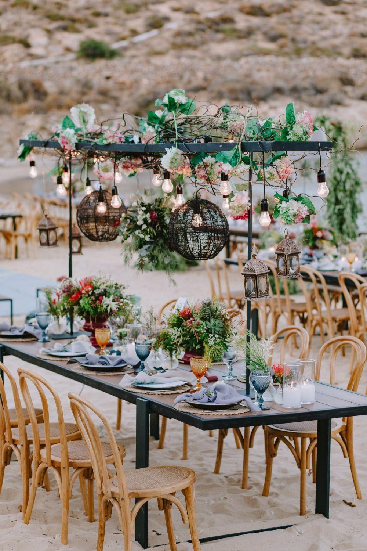 Modern Moroccan Inspired Beach Wedding | Beach wedding ...