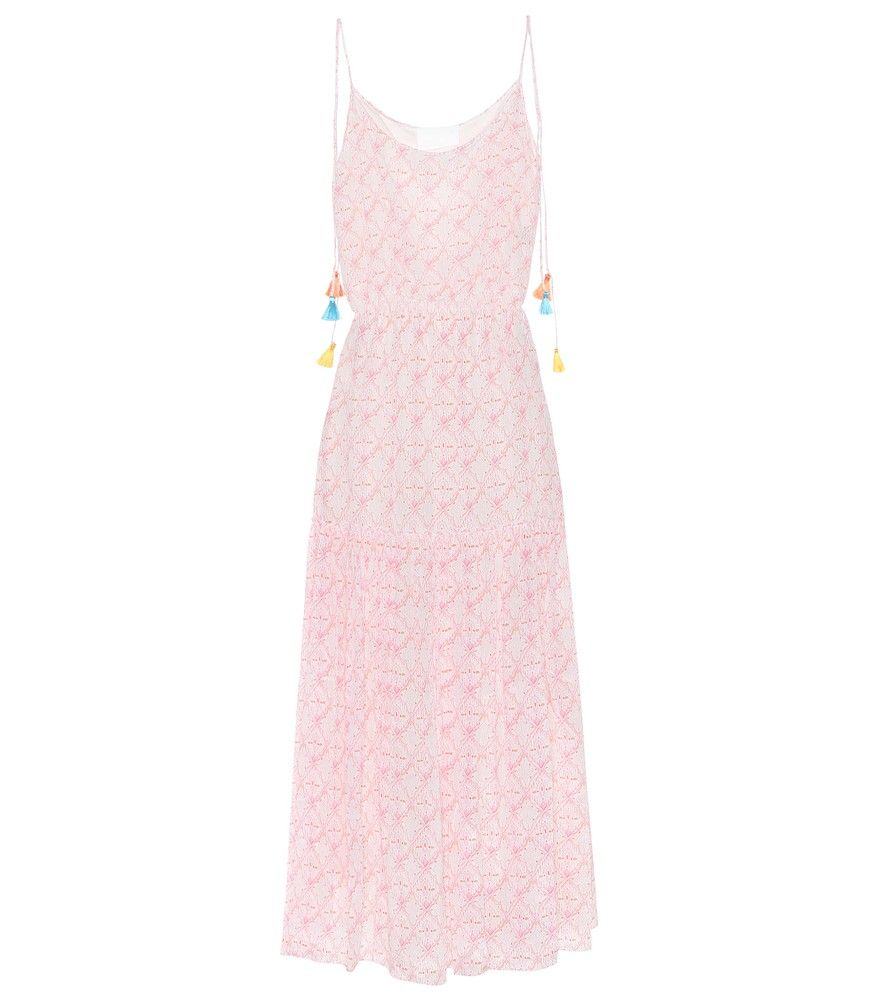 athena procopiou - maxikleid mandrem rosa | kleider