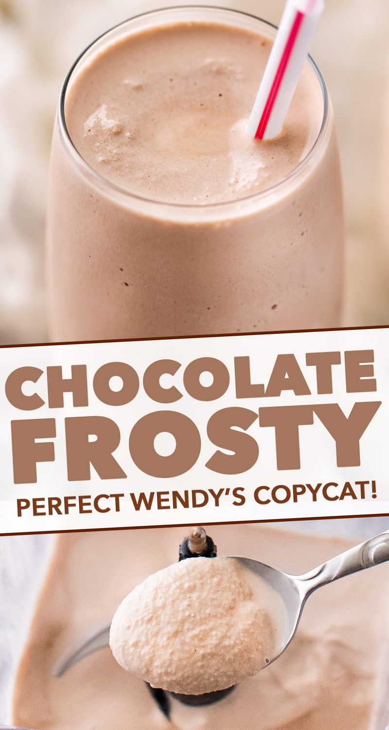 Delicious Wendys Frosty copycat recipe, made with 3 simple ingredients and tastes exactly like the real thing! #frosty #wendys #copycat #milkshake #icecream #fastfood #summer