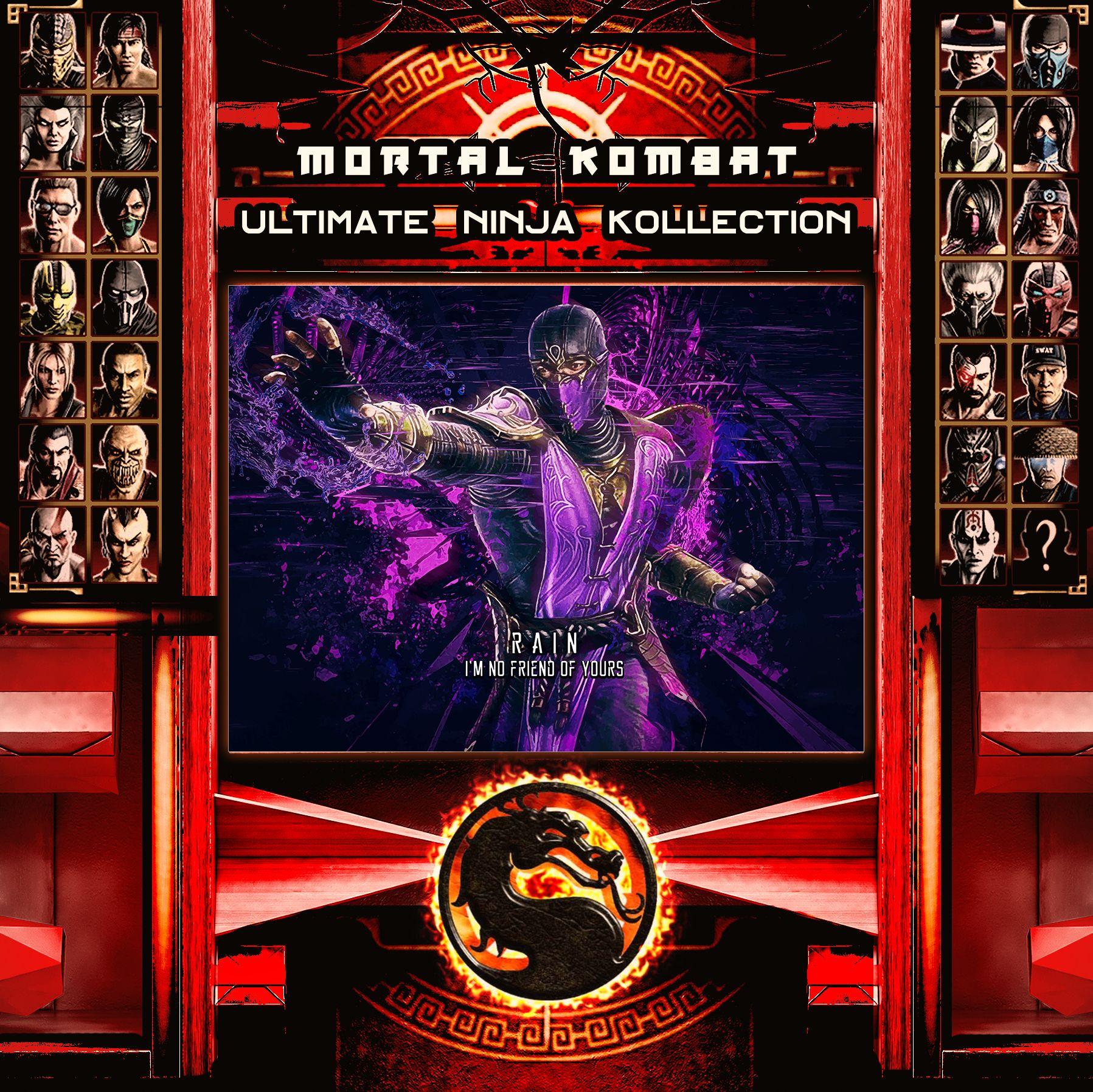 Mortal Kombat Ultimate Ninja Collection Rain Metal Print | Displate thumbnail