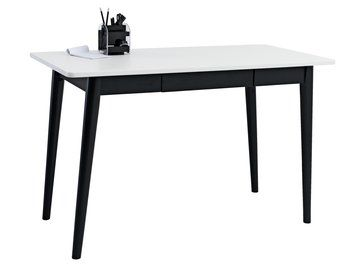 Työpöytä ALMIND 1 laatikko valk./musta | JYSK