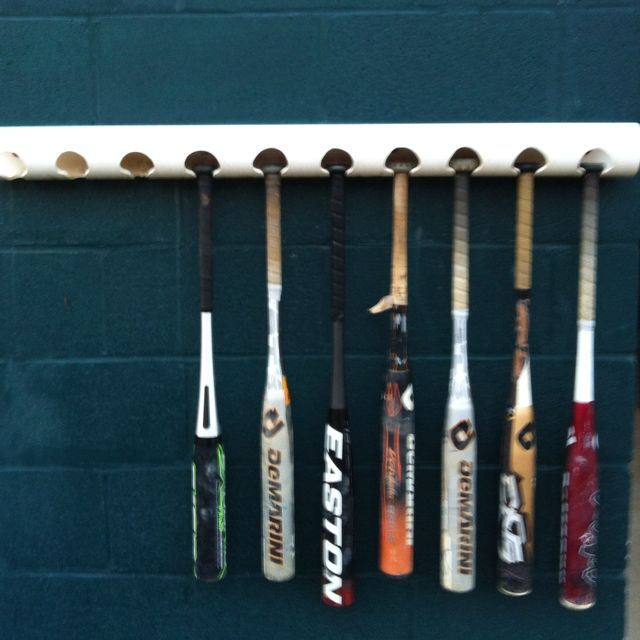 Very creative baseball bat holder for dugouts | Recycled ...