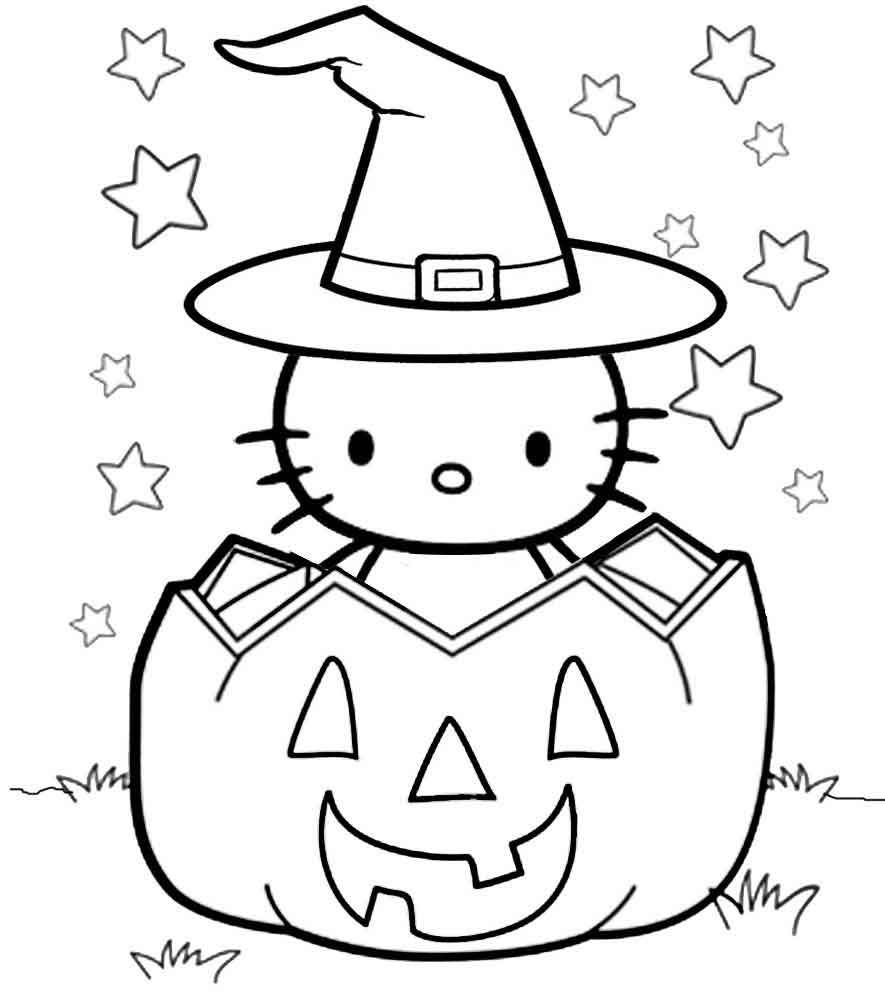 Hello Kitty Halloween Coloring Pages Best Coloring Pages For Kids Hello Kitty Colouring Pages Halloween Coloring Pages Halloween Coloring