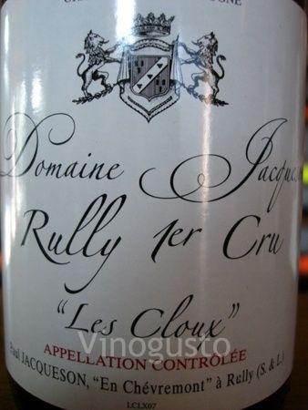 Domaine Jacqueson - Rully 1er Cru - Les Cloux 2010   Wine ... 9c827781c0e0