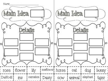 Main Idea and Details {activities and task cards