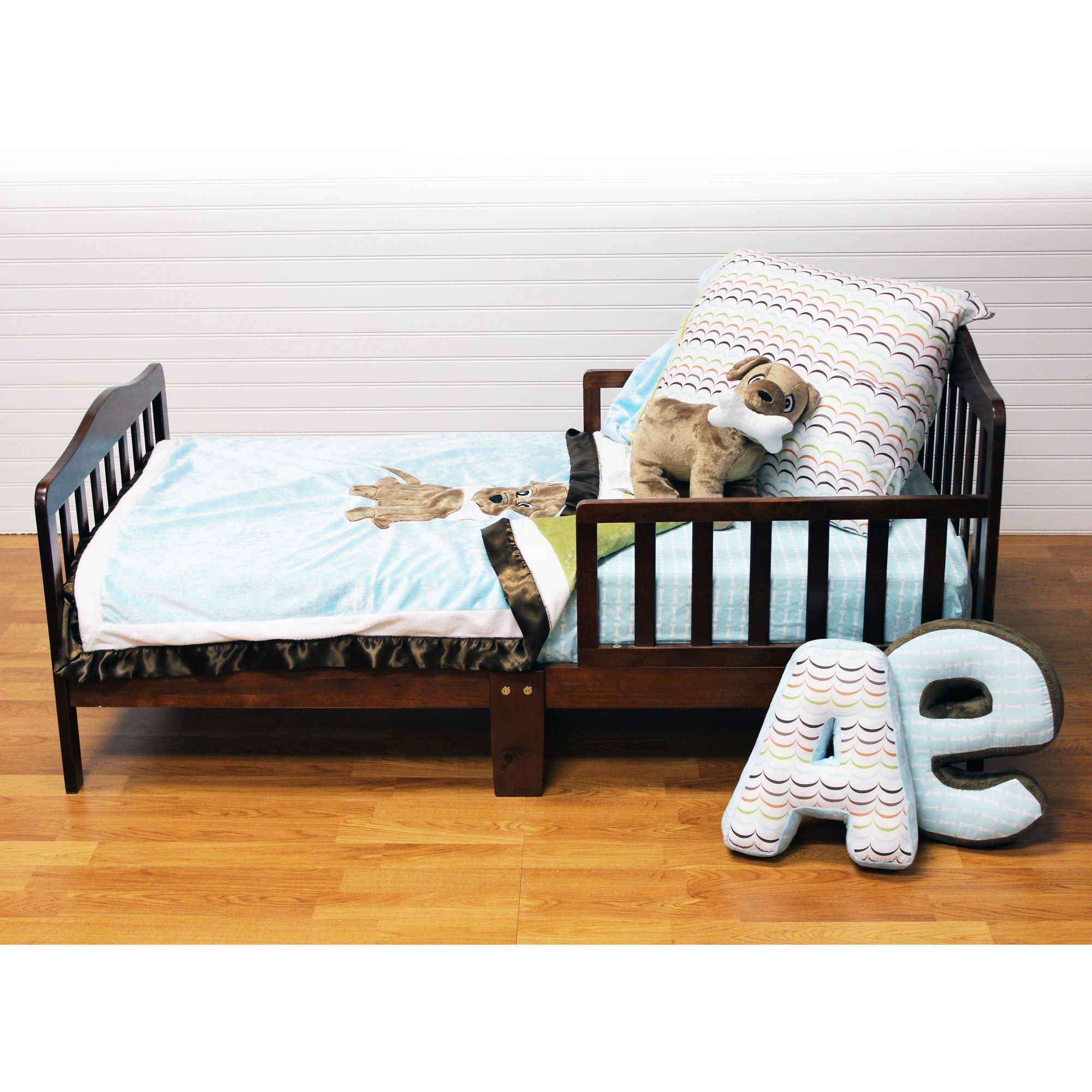 Puppy Pal Boys' Blue 4-piece Quilt Set - Overstock™ Shopping - The Best Prices on One Grace Place Kids' Quilts