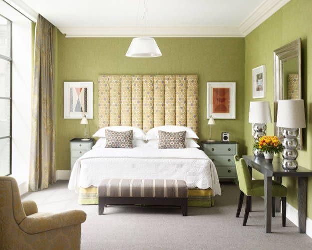 Green & Silver Mid-Century #Modern Bedroom