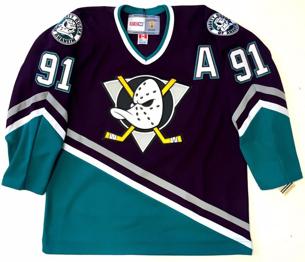 76cdc3c40 Sergei fedorov anaheim mighty ducks ccm vintage jersey new with tags ...