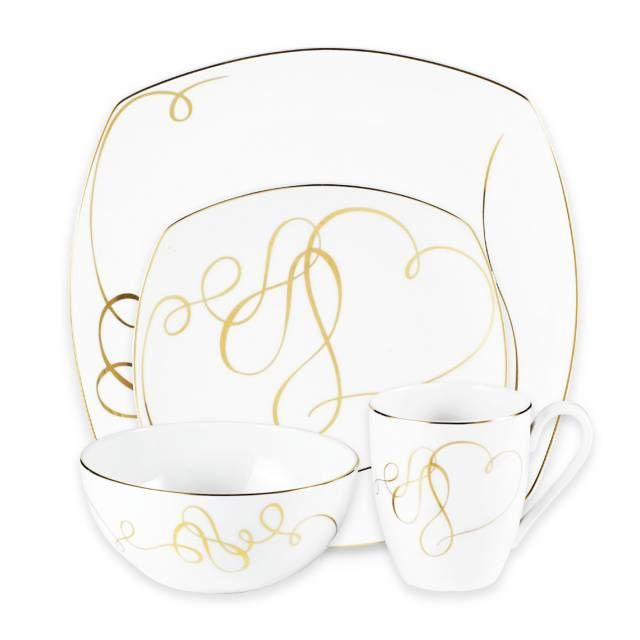 product image for Mikasa® Love Story Gold Square Dinnerware Collection  sc 1 st  Pinterest : mikasa square dinnerware - Pezcame.Com