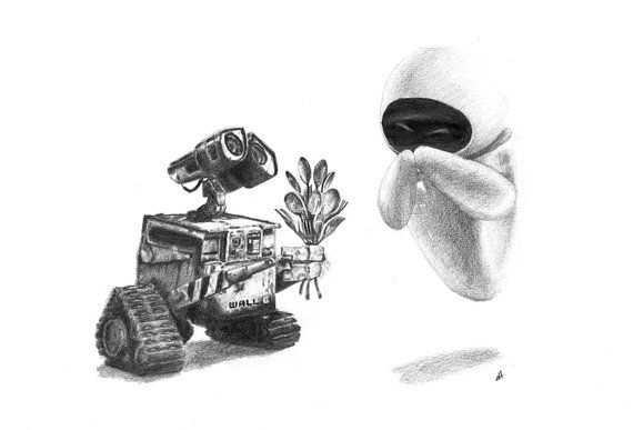 Wall e is still one of the cutest disney creations around i thought it was adorable that wall e would offer a bouquet of cutlery as it is all he
