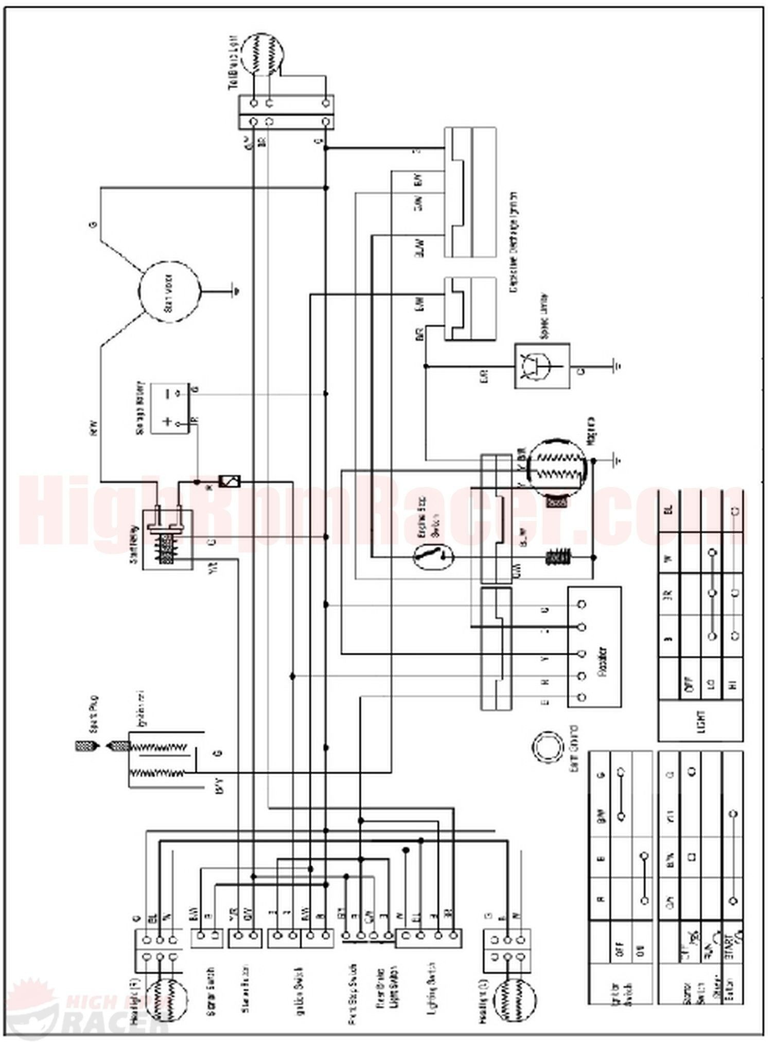 Wiring Diagram For 110cc 4 Wheeler Inspirational 110cc Chinese Atv Electrical Wiring Diagram Diagram Electrical Diagram