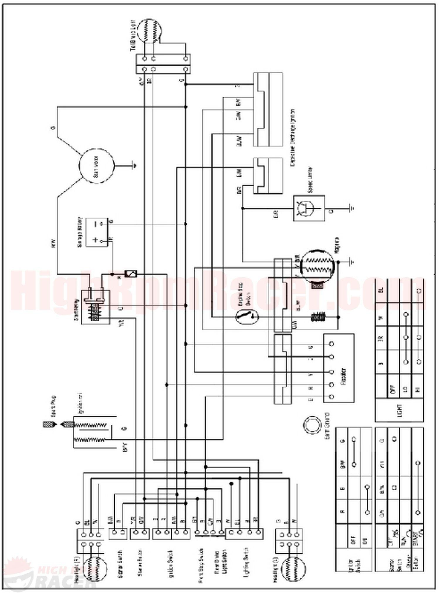 Wiring Diagram For 110cc 4 Wheeler Inspirational 110cc Chinese Atv Electrical Wiring Diagram Electrical Diagram Diagram