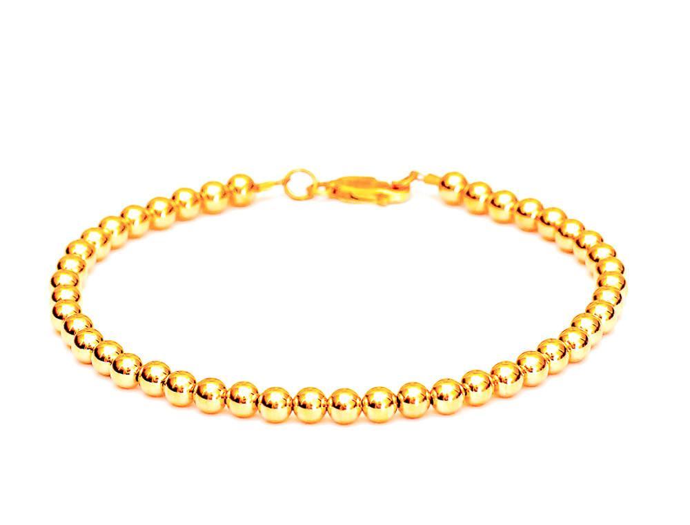 14k Yellow gold loose rope ankle bracelet lifetime warranty