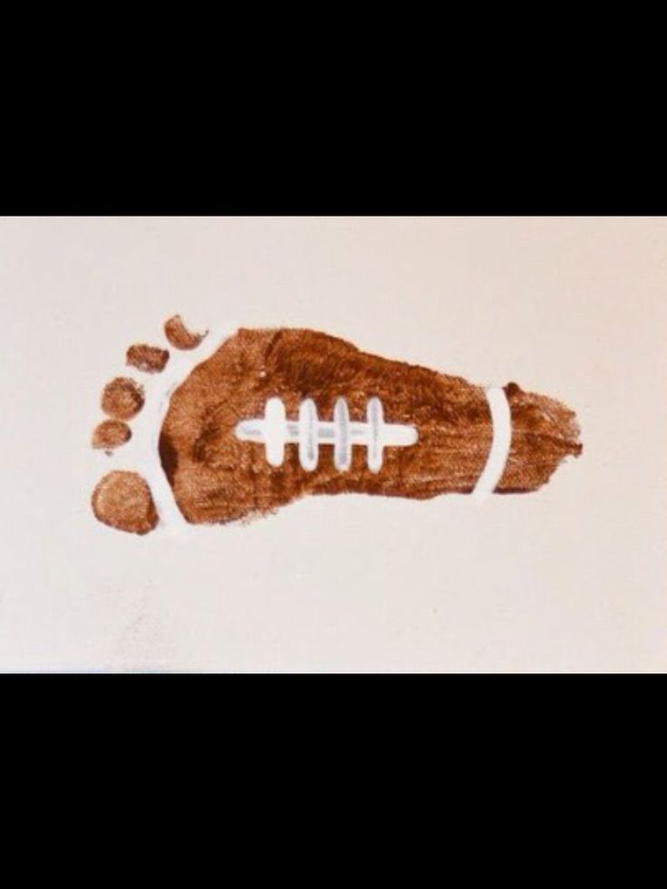 Football Footprint Entertainment For Kids Toddler