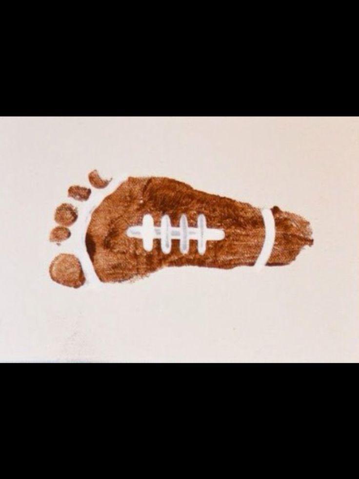 Football Footprint Entertainment For Kids Pinterest
