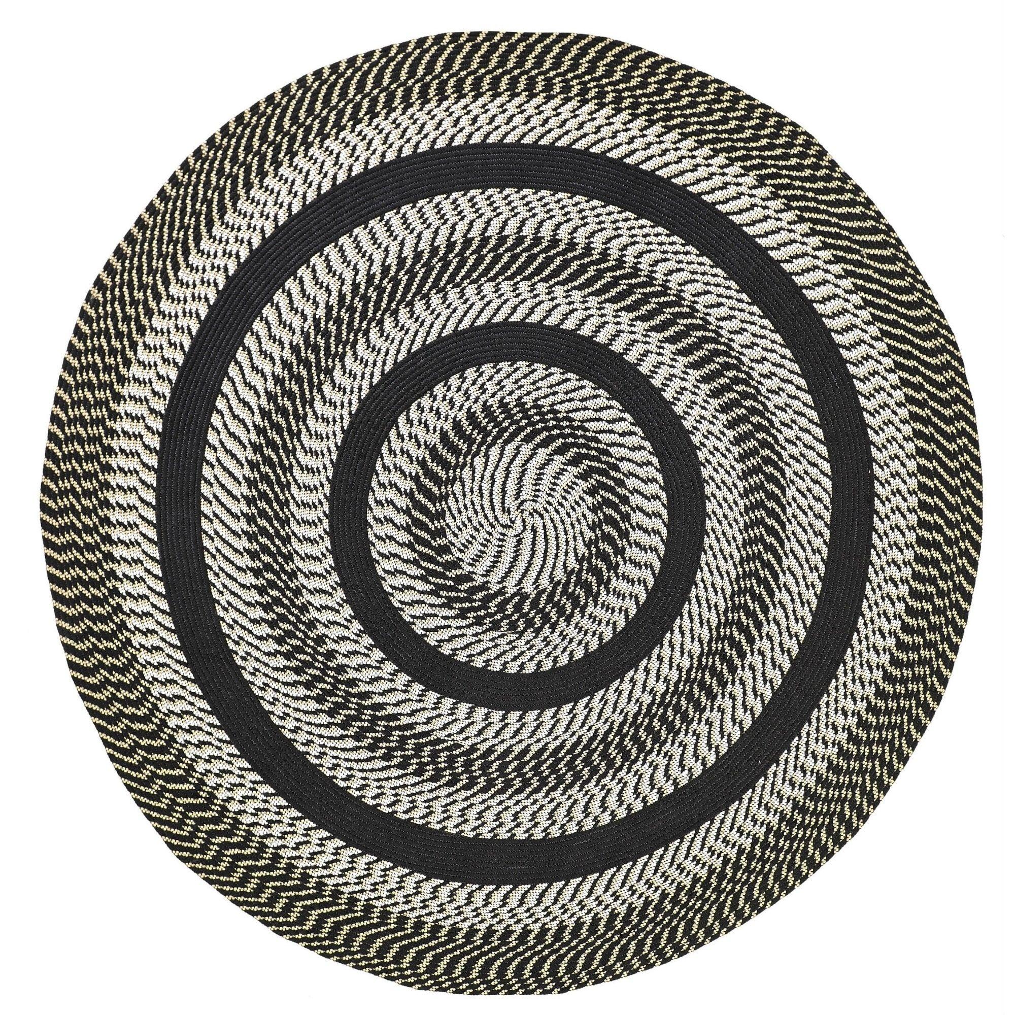 Better Trends Newport 6 Round Braided Rug Black Size Polypropylene