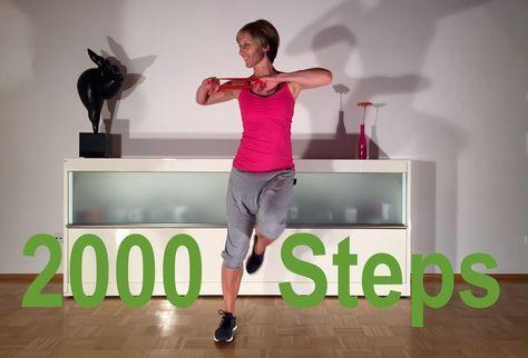 20 min. 2000 Schritte und rubber band Übungen mit Gabi Fastner