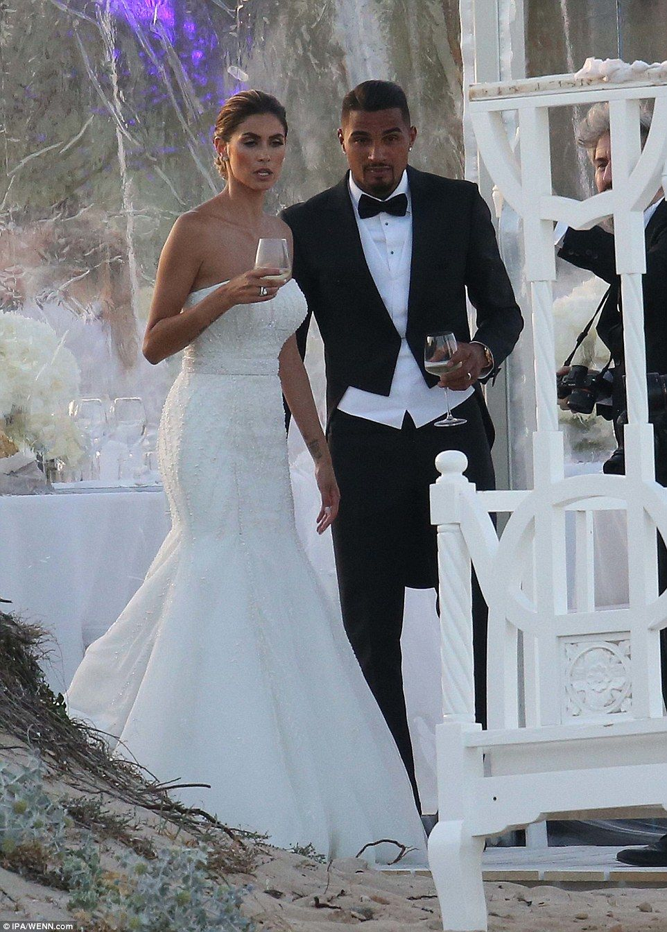 Ex AC Milan player Kevin-Prince Boateng maries Melissa Satta ...